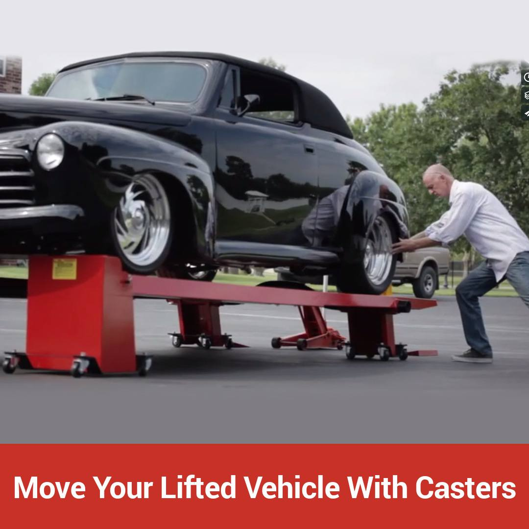 Move your lifted vehicle with a set of casters