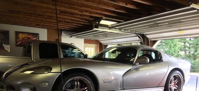 Vette in garage